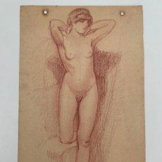 Arte: DESNUDO FEMENINO SIGLO XIX SANGUINA. Lote 257271125