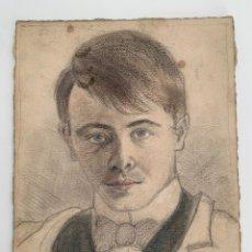 Arte: DIBUJO 1904 CARBONCILLO PASTEL. Lote 257277705