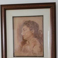 Arte: PRECIOSO DIBUJO PINTOR ITALIANO RAMBALDI (23X30CM SIN MARCO) (42X50CM CON MARCO). Lote 257843505