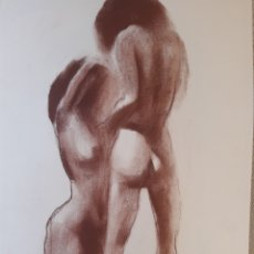 Arte: JUEGO EROTICO. SANGUINA.35X50CM. FIRMADO S.ESTRANY. Lote 258868840