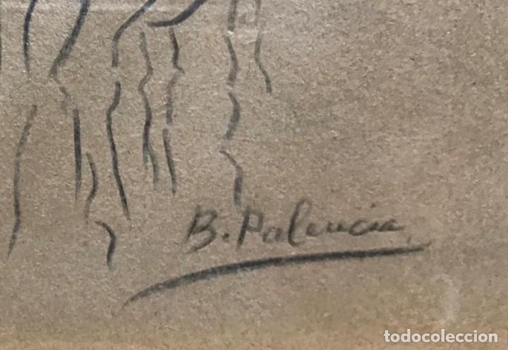 Arte: Benjamín Palencia (Albacete, 1894 - Madrid, 1980). Caballos. Dibujo a lápiz sobre papel. Firmado - Foto 6 - 259215285