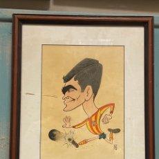 Arte: CARICATURA PINTADA A MANO DE JUGADOR DE FUTBOOL FIRMADA ESTEVE. Lote 259756615