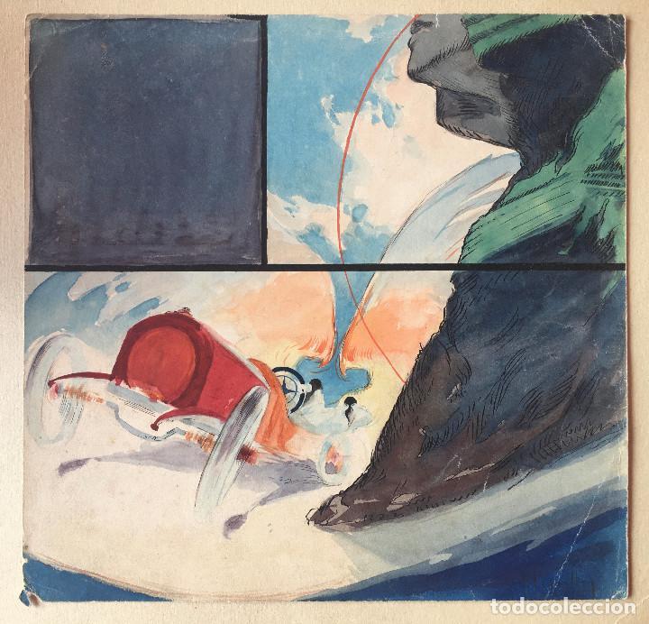 JOSÉ SEGRELLES. BOCETO A COLOR. APUNTES DEL ARTISTA SIGLO XIX PUBLICIDAD CARTEL FORD. AÑOS 20 (Arte - Dibujos - Modernos siglo XIX)