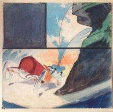 Arte: JOSÉ SEGRELLES. BOCETO A COLOR. APUNTES DEL ARTISTA SIGLO XIX PUBLICIDAD CARTEL FORD. AÑOS 20. Lote 260417385