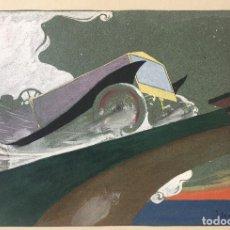 Arte: JOSÉ SEGRELLES. BOCETO A COLOR. APUNTES DEL ARTISTA SIGLO XIX PUBLICIDAD CARTEL FORD. AÑOS 20. Lote 260417675