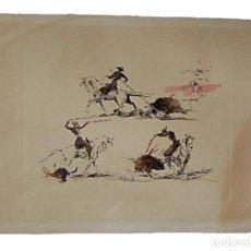 Arte: JOAQUIM TERRUELLA (1891/1957) - ESCENA DE TOROS - DIBUJO SOBRE PAPEL. Lote 260694440