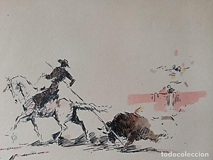 Arte: JOAQUIM TERRUELLA (1891/1957) - ESCENA DE TOROS - Dibujo sobre Papel - Foto 2 - 260694440