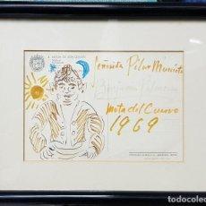 Arte: DIBUJO BENJAMIN PALENCIA - 1969 - SOBRE POSTAL - 23X19. Lote 261161540