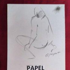 Arte: DIBUJO ORIGINAL.CARBONCILLO. FIRMADO. O. JUNYENT. Lote 261297065