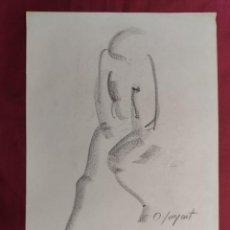 Arte: DIBUJO ORIGINAL.CARBONCILLO. FIRMADO. O. JUNYENT. Lote 261297170