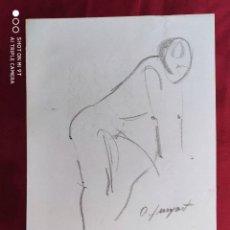 Arte: DIBUJO ORIGINAL.CARBONCILLO. FIRMADO. O. JUNYENT. Lote 261297695