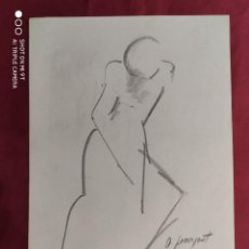 Arte: DIBUJO ORIGINAL.CARBONCILLO. FIRMADO. O. JUNYENT. Lote 261300985