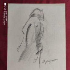 Arte: DIBUJO ORIGINAL.CARBONCILLO. FIRMADO. O. JUNYENT. Lote 261301105