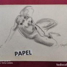 Arte: DIBUJO ORIGINAL.CARBONCILLO. FIRMADO. O. JUNYENT. Lote 261301425