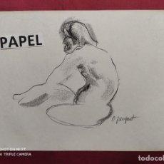 Arte: DIBUJO ORIGINAL.CARBONCILLO. FIRMADO. O. JUNYENT. Lote 261301455