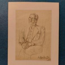 "Arte: AGUILAR MORÉ"" RETRATO AL NATURAL DE UN AMIGO DEL ARTISTA"" 1947. Lote 261519010"