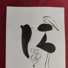 Arte: DIBUJO ORIGINAL. SERIE NEGRA. TINTA CHINA Y PINCEL. FIRMADO. V. FARRRES. Lote 261948705