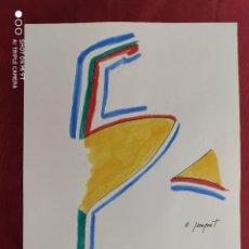 Arte: DIBUJO ORIGINAL. TINTA CHINA Y ACUARELA. FIRMADO. O. JUNYENT. Lote 261951005