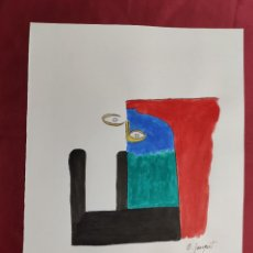 Arte: DIBUJO ORIGINAL. TINTA CHINA Y ACUARELA. FIRMADO. O. JUNYENT. Lote 261951055