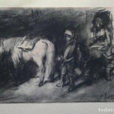 Arte: FRANCISCO DOMINGO MARQUÉS- PERSONAJES CON CABALLO-. Lote 262128380