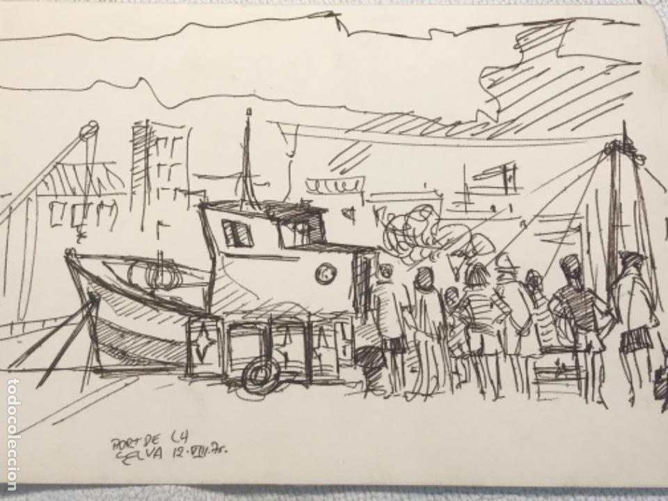 Arte: DIBUJO A TINTA , PORT DE LA SELVA GIRONA 1975. DESCONOCEMOS AUTOR. - Foto 4 - 262192610