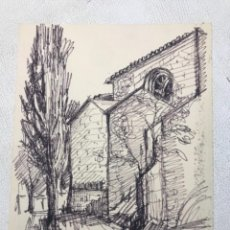 Arte: DIBUJO A TINTA FIRMADO CERVELLÓ.. Lote 262194175