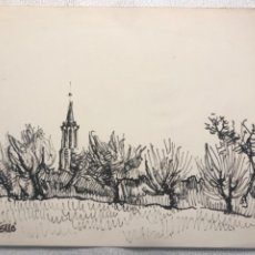 Arte: DIBUJO A TINTA FIRMADO CERVELLÓ.. Lote 262196655