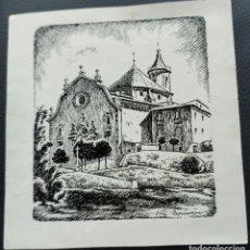 Arte: VILA MONCAU. DIBUIX ORIGINAL SANTIARO LA GLEVA. VIC. TINTA. 18,5 X 18 CM.. Lote 262387595