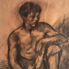 Arte: RICARD CANALS LLAMBÍ (1876-1931) - JOVEN MENDIGO. Lote 262692835