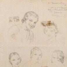 Arte: JULIO BORRELL I PLA DIBUJO A LÁPIZ ESTUDIO MUJER FIRMADO Y FECHADO 31 DE DICIEMBRE DE 1938. Lote 263048330