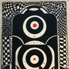 Arte: DIBUJO A TINTA ABSTRACTO 1975. FIRMADO.. Lote 263553885