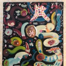Arte: DIBUJO TECNICA MIXTA FIRMADO 1970'S. ABSTRACTO.. Lote 263554760