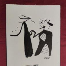 Arte: DIBUJO ORIGINAL. SERIE NEGRA. TINTA CHINA Y PINCEL. FIRMADO. V. FARRRES. Lote 263591535