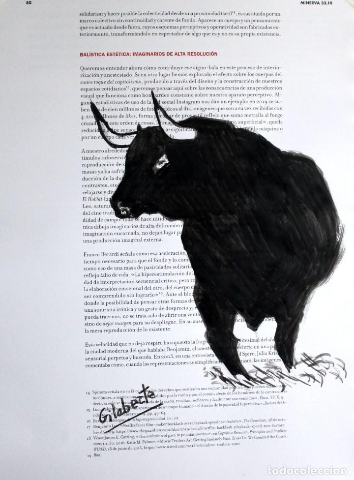 TORO OBRA DE GILABERTE (Arte - Dibujos - Contemporáneos siglo XX)