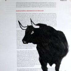 Arte: TORO OBRA DE GILABERTE. Lote 265343809
