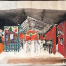 Arte: DIBUJO ANTONI CLAVÉ TÉCNICA MIXTA ESCENOGRAFÍA. Lote 265351629