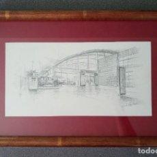 Arte: DIBUJO FIRMADO EUGENIO LOPEZ BERRÓN CONCESIONARIO AUDI. Lote 266556243