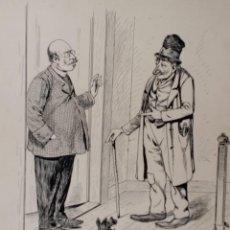 Arte: WILHELM BUSCH, PATER FILICIUS, DIBUJO ÚNICO FIRMADO DE 1890. Lote 267378769