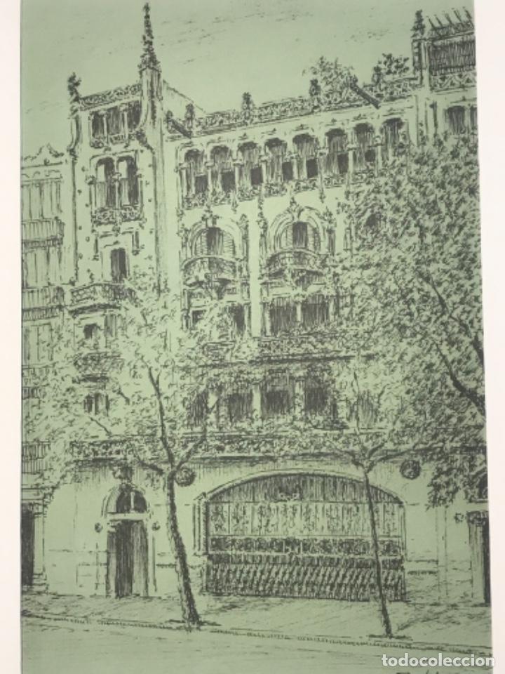Arte: DIBUJO A TINTA EDIFICIO DE BARCELONA. FIRMADO. - Foto 2 - 267651184