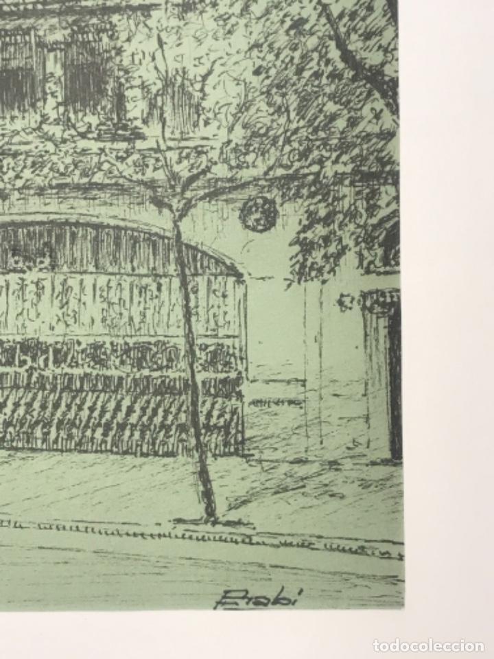 Arte: DIBUJO A TINTA EDIFICIO DE BARCELONA. FIRMADO. - Foto 3 - 267651184