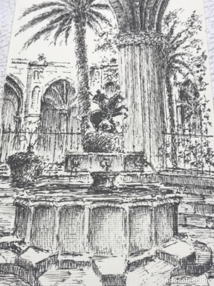 Arte: DIBUJO A TINTA, INTERIOR DE LA CATEDRAL DE BARCELONA. FIRMADO. - Foto 2 - 267774949