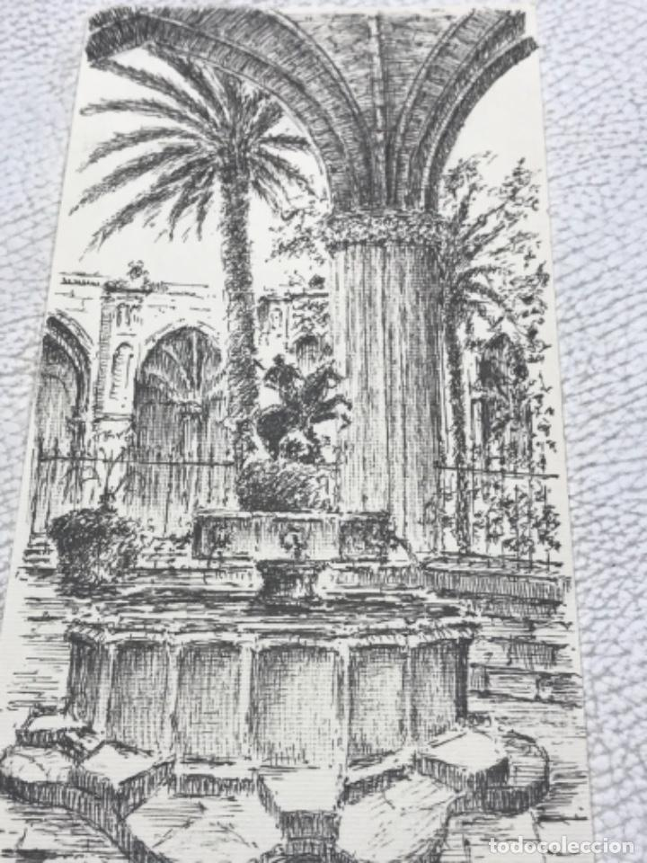 Arte: DIBUJO A TINTA, INTERIOR DE LA CATEDRAL DE BARCELONA. FIRMADO. - Foto 3 - 267774949