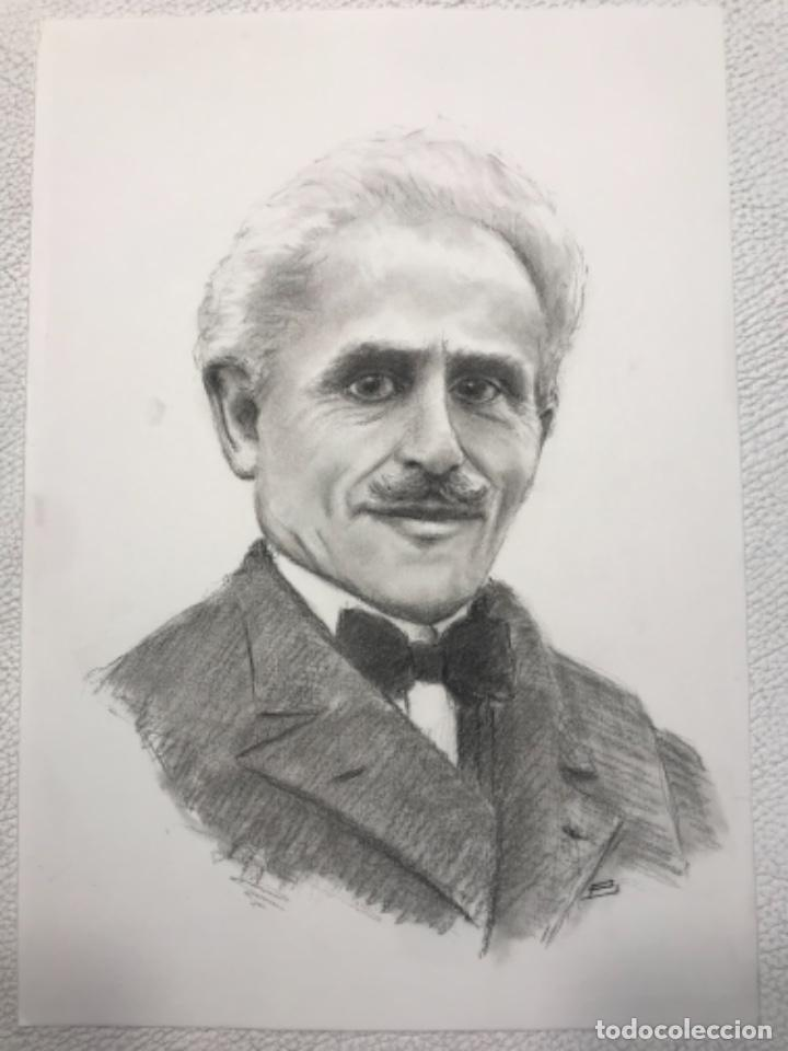RETRATO AL CARBÓN DE ARTURO TOSCANINI COMPOSITOR ITALIANO. DESCONOCEMOS AUTOR. (Arte - Dibujos - Contemporáneos siglo XX)
