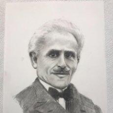 Arte: RETRATO AL CARBÓN DE ARTURO TOSCANINI COMPOSITOR ITALIANO. DESCONOCEMOS AUTOR.. Lote 267777584