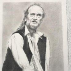 Arte: RETRATO DEL ACTOR DE LUIS HOMAR. DIBUJO AL CARBÓN. DESCONOCEMOS AUTOR.. Lote 267777934