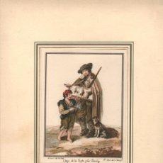 Arte: DIBUJO ACUARELADO CIEGO DE LA GAYTA Y LAS FURRIÑAS. NARCISO DE LA CRUZ. 1777. ANOTACION MANUSCRITA. Lote 268307664