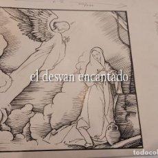 Arte: DIBUJO A TINTA ESCENA ANTIGUO TESTAMENTO. PARA PUBLICACIÓN SEIX BARRAL. 22 X 25 CTMS. Lote 268726869