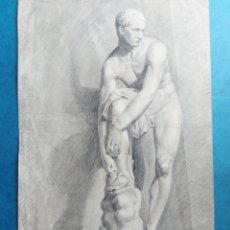 "Arte: E.ESTRELLA RABASA ""ESTUDIO CUERPO HUMANO ATLETA ROMANO ""1838. Lote 269195168"