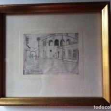 Arte: DIBUJO ORIGINAL A LÁPIZ DE ALFREDO OPISSO. LO DIBUJÓ CON 15 AÑOS. 1922.. Lote 269264723