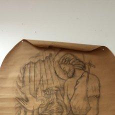 Arte: ORIGINAL OBRA, ARTE RELIGIOSO. MEDIDAS 93*130 CM. Lote 269297208
